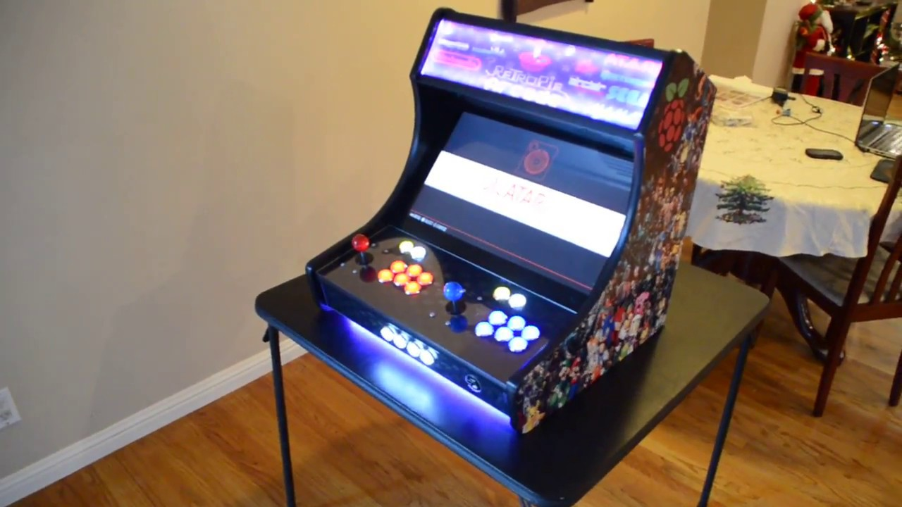 Raspberry Pi 3 RetroPie Bar Top Arcade Cabinet Build Rey's 128 GB ...