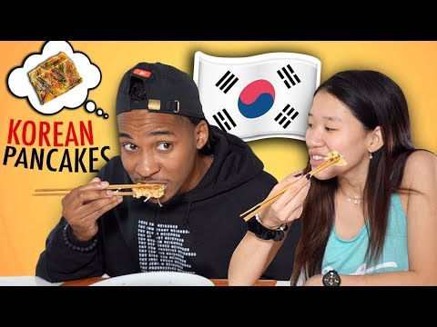 My Husband Tries Korean Thanksgiving Food!