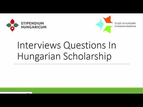 Hungarian Scholarship Questions (English Language) stipendium hungaricum 2021/2022
