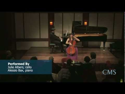 "Julie Albers performed Tchaikovsky ""Valse Sentimentale for Cello and Piano, Op. 51, No. 6"", live in concert as part of the Chamber Music Society of Lincoln Center's December 2011 Late Night Rose Concert."