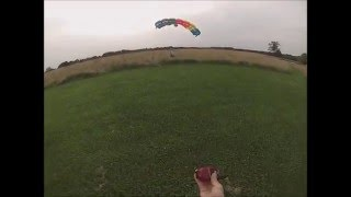 My first AFF skydive landing, OMG!