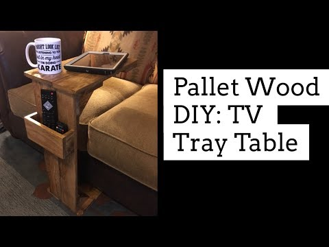 Pallet Wood DIY: TV Tray Table