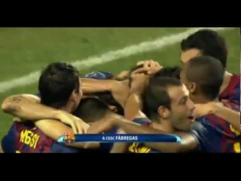 Barcelona 2-0 FC Porto - Fabregas Goal - Super Cup 2011