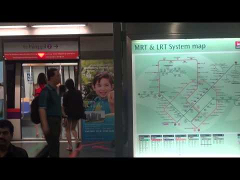 How to travel around Singapore on the MRT (Mass Rapid Transport system)