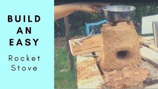 Rocket Stove Primitive Cooking Easy Free Cob DIY Project