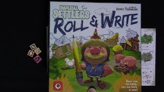 Imperial Settlers: Roll and Write Solo