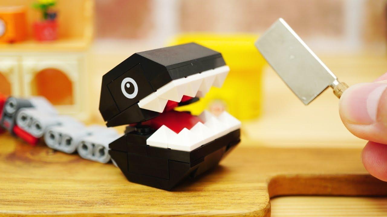 LEGO super mario StopMotion cooking!「LEGO Chomp coffee」レゴマリオの不思議な料理「レゴワンワンコーヒー」の作り方