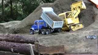 Bruder Mack Granite dump truck RC conversion-first load after rebuild