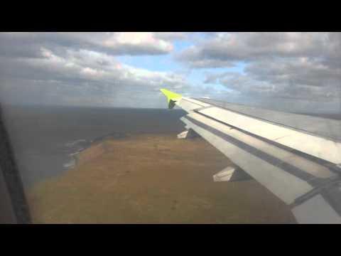 Aproximación y aterrizaje con viento pista 25 - Punta Arenas PUQ [Sky Airline A32O-233 CC-ABV)  18/9