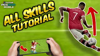 All Skill Tutorial Pes 2020 Mobile [ Classic Control ]