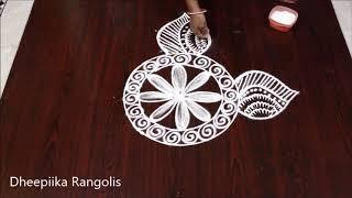 Latest freehand rangoli design witout dots l sankranthi muggulu l easy and simple kolam