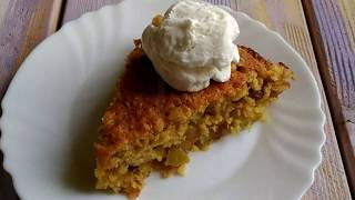 Пирог с овсянкой и фруктами