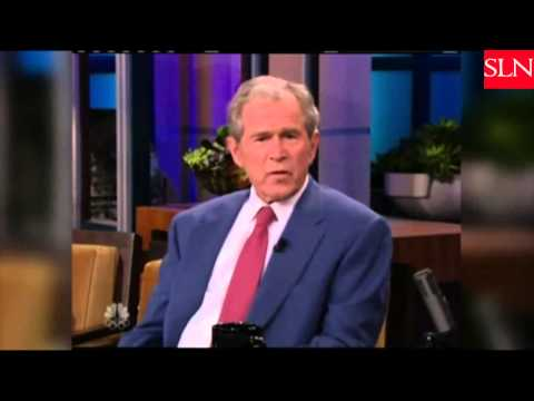George W Bush Jay Leno George W  Bush Shows Off Paintings With Jay Leno