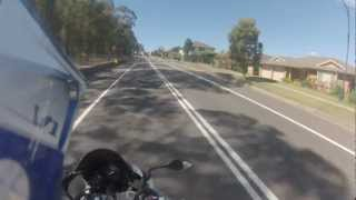 1992 Honda CBR250RR - First GoPro Hero 3 Ride/Motovlog (F1 Sound) (HD)