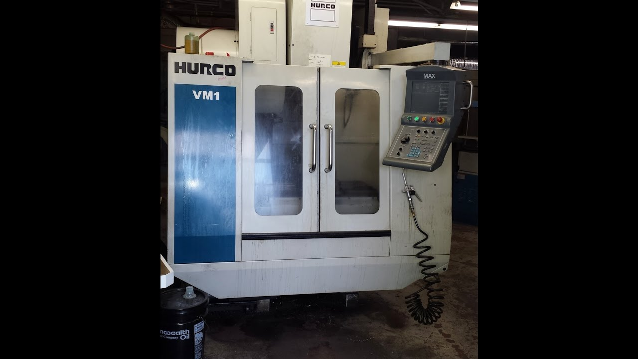 Hurco VM1 demo movie by GreasyMachines com