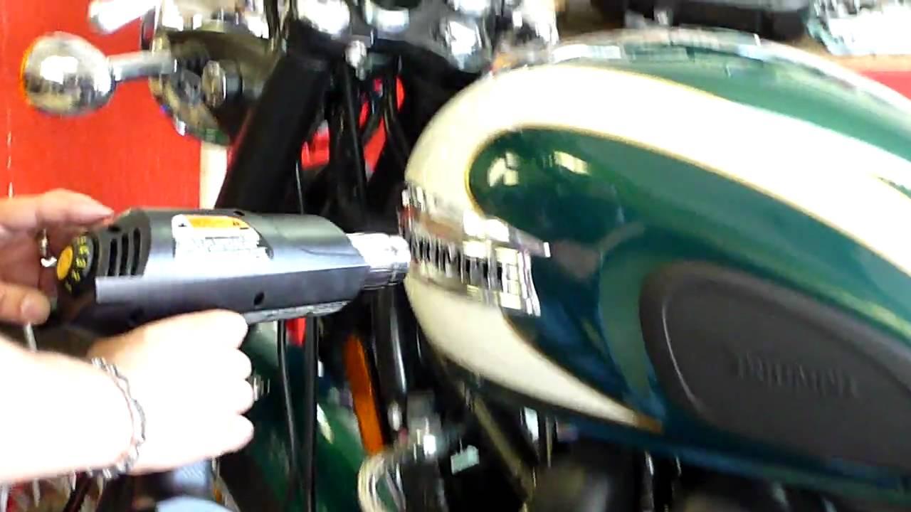 Tank Badge Removal For Triumph Bonneville T100 Youtube