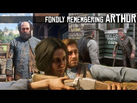 John Marston Shares Fond Memories Of Arthur With Mickey, Civil War Veteran & Charlotte - RDR2