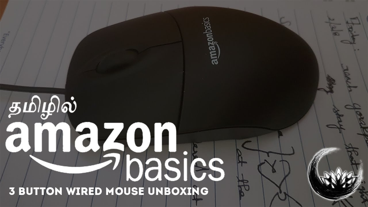 ca549dbf04e AmazonBasics 3-Button Wired USB Mouse Unboxing in Tamil / தமிழ் ...