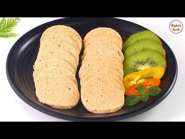 হোমমেড চিকেন সালামি/চিকেন সসেজ রেসিপি | Easy Homemade Chicken Salami recipe bangla | chicken sausage