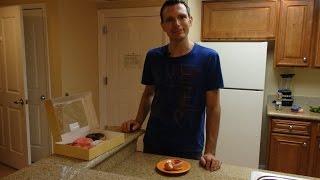 Kochen der Walmart Einkäufe im Apartment