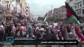 مصر العربية | آلاف المغاربة يتظاهرون بالدار البيضاء دعما للشعب الفلسطيني