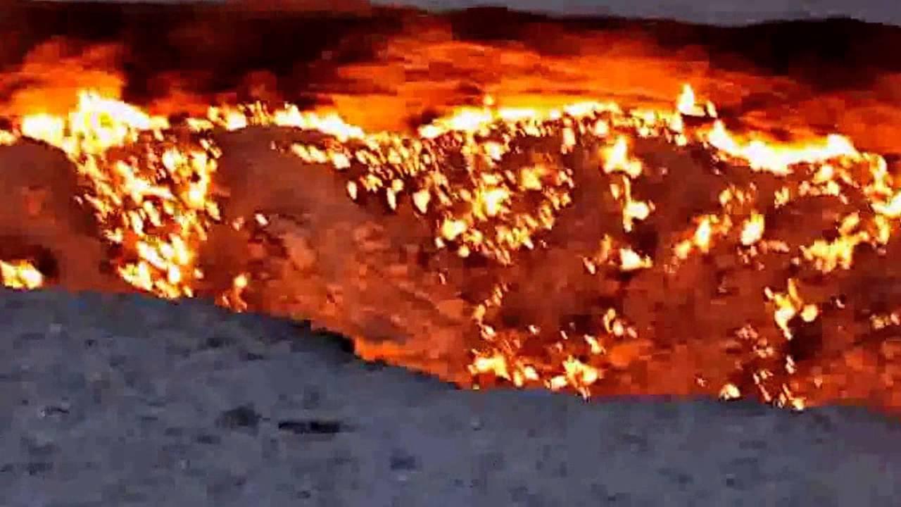 La porte de l 39 enfer door to hell in turkmenistan youtube - Turkmenistan porte de l enfer ...