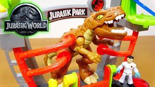 ジュラシックワールド 炎の王国 IMAGINEXT 研究室 小さい子供には面白い!?恐竜フィギュアを飾るのにはバッチリのおもちゃ!Dinosaur JurassicWorld thumbnail