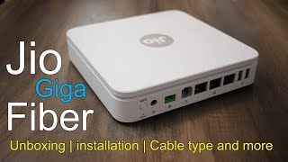 Jio GigaFiber unboxing, installation, Fiber cable, Price, Plans,  Performance speed and offers