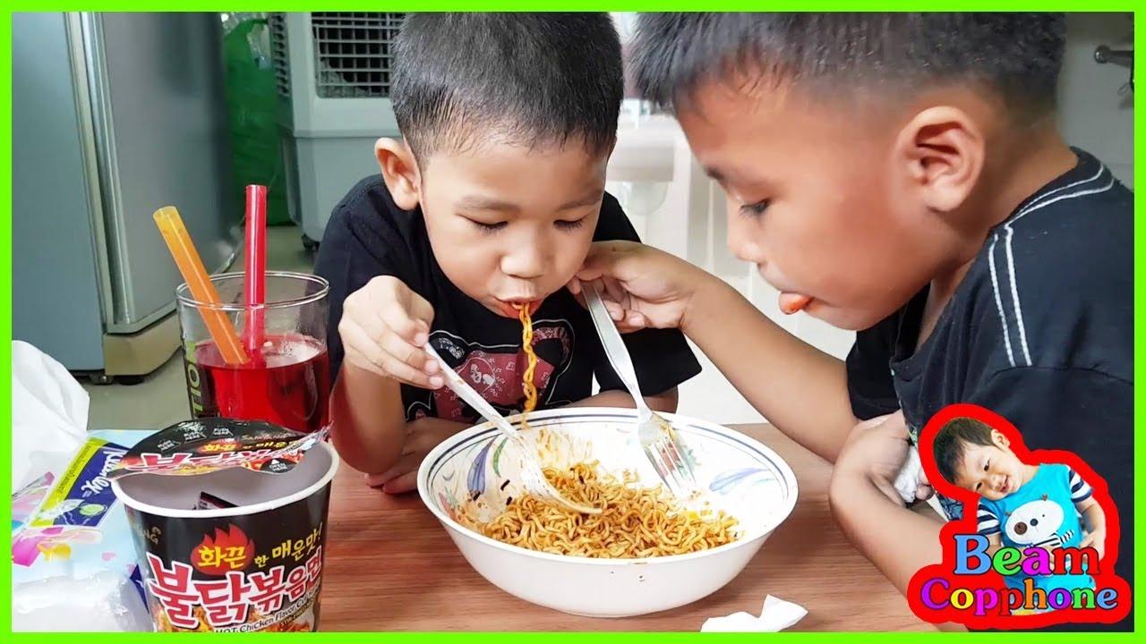 น้องบีม | กินมาม่าเผ็ดเกาหลีแบบถ้วย