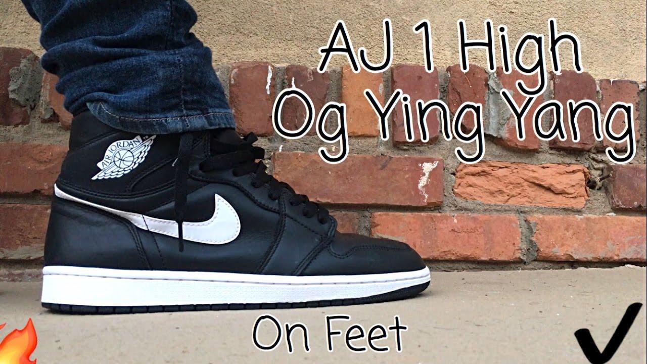 competitive price 1d240 788c0 Air Jordan 1 High Og Ying Yang On Feet