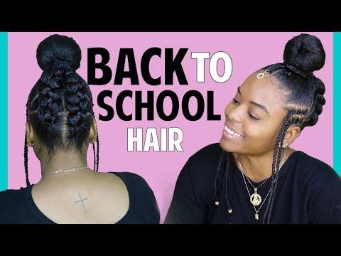 Braided Bun With Kanekalon Hair Collaboration With Glamfam Back