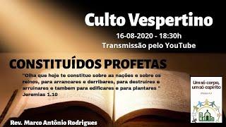 CONSTITUÍDOS PROFETAS - Jeremias 1.4-10