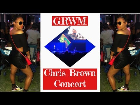 GRWM + VLOG | Chris Brown Concert | Hair + Makeup + Outfit