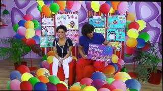 Leo Birthday card on CBeebies October 22nd 2014 in background