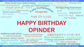 Opinder   Languages Idiomas - Happy Birthday