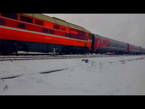 Зимний день на станции Клинцы.
