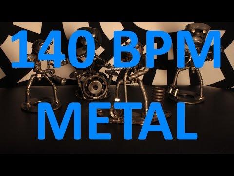 140 BPM - Double Kick METAL - 4/4 Drum Track - Metronome - Drum Beat