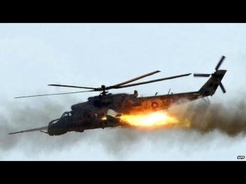 A Nigerian air force chopper burst into flames