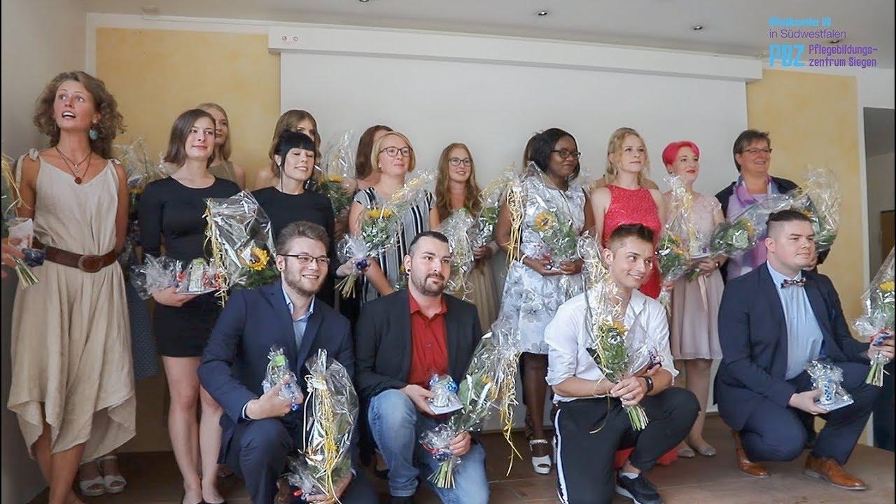 Youtube Video: Examensfeier am Pflegebildungszentrum der Diakonie in Südwestfalen