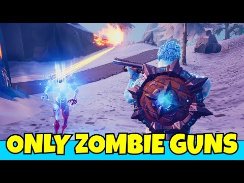 i ONLY use zombie WEAPONS in fortnite... (so annoying)