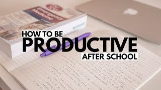 I share 5 tips on how to stay productive after school! Skillshare (...