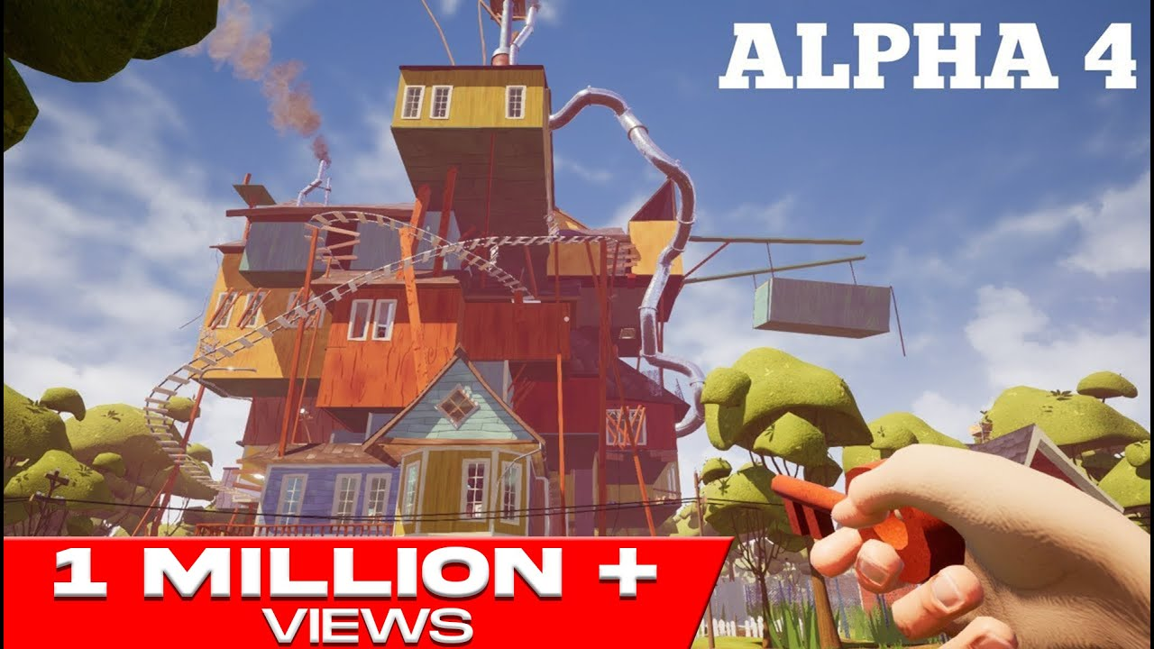 HELLO NEIGHBOR ALPHA 4 GAMEPLAY WALKTHROUGH - YouTube
