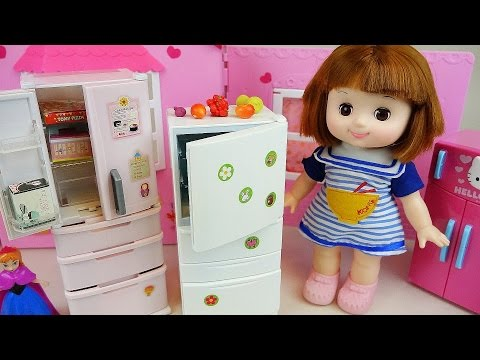 Refrigerator and Baby Doll mini food toys