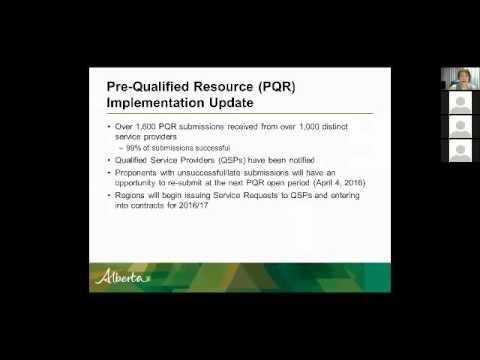 Service Request Webinar - Alberta Human Services
