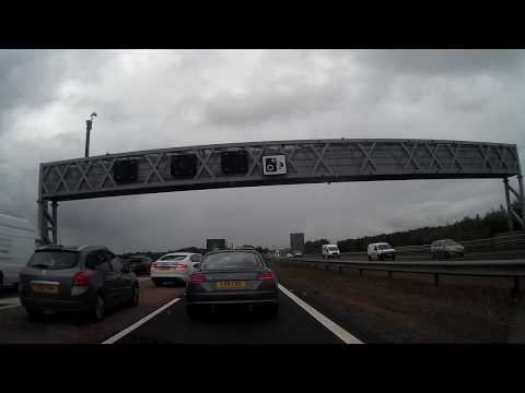 Slow Drive South To Cross Queensferry Crossing Firth Of Forth Scotland