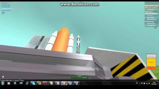 Roblox espaço Shuttle Atlantis viagem ISS para a terra