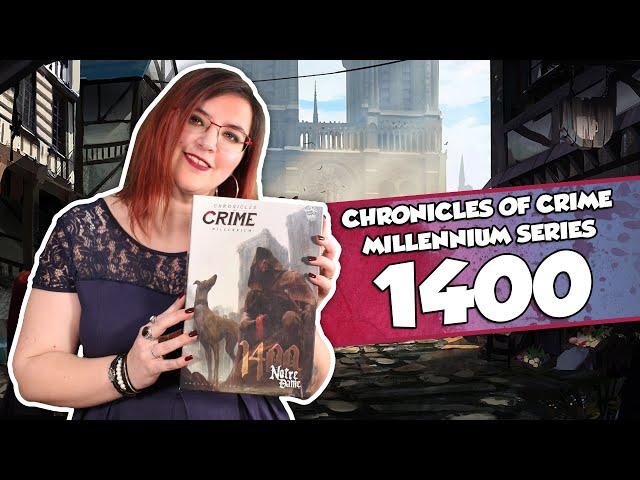 [À la découverte de ...] CHRONICLES OF CRIME - 1400 chez Lucky Duck Games