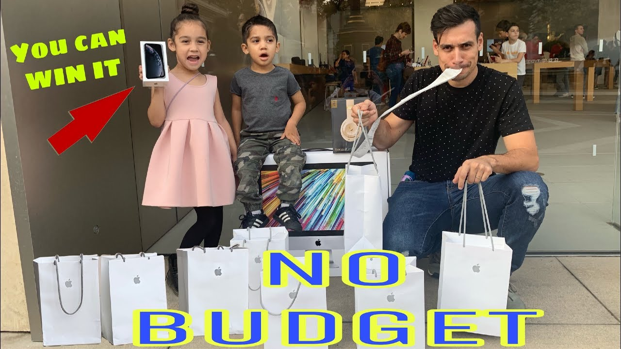 ????Bought Whatever We Wanted At The APPLE STORE( NO BUDGET ) | Jancy  Family