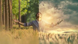 Photoshop | How to change background & Photo Manipulation ( Parv Kalia )