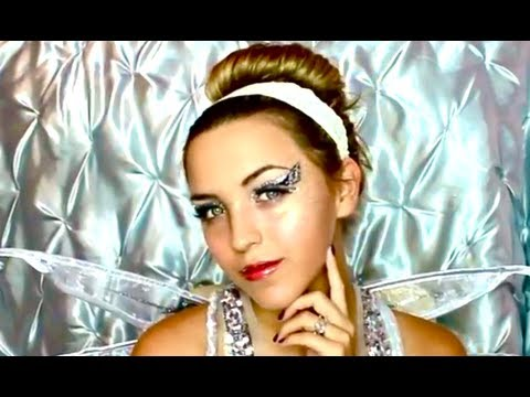Simple & Pretty Angel Halloween Makeup - YouTube